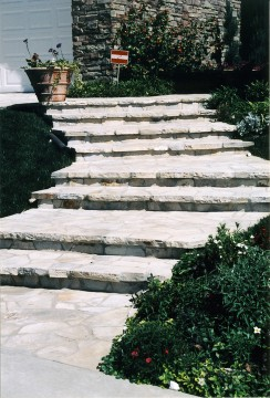 Hardscape paving at a residence